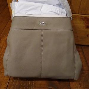 NWT Coach Gray Fog Leather Lexy Purse Bag F57545